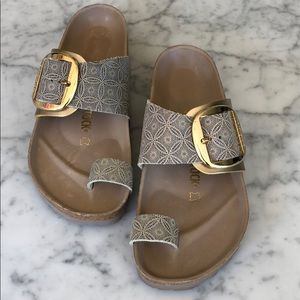 New! Birkenstock Mirimar Big Buckle Slide Sandals